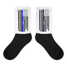 Load image into Gallery viewer, Thin Blue Line Police Socks