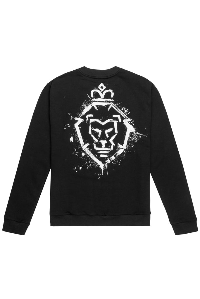 MEN BLACK LOGO SWEATER