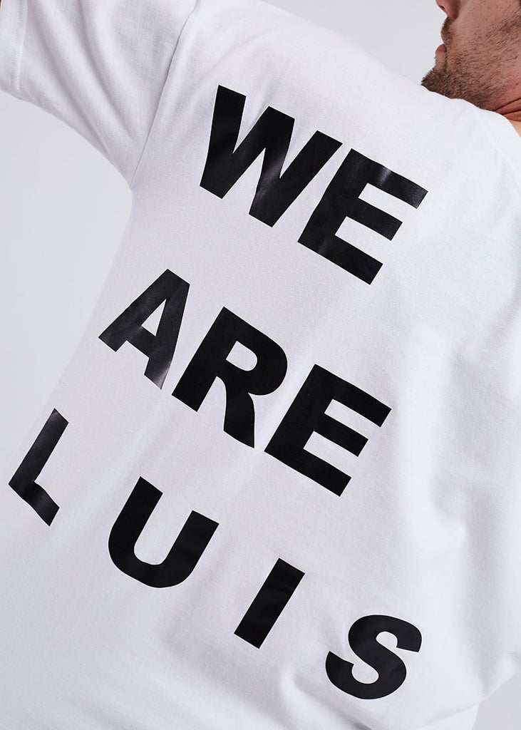 MEN WHITE WE ARE LUIS TEE