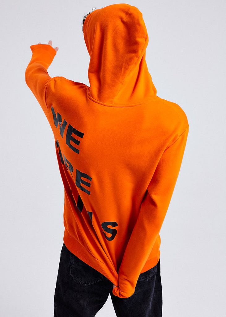 MEN ORANGE WE ARE LUIS HOODIE