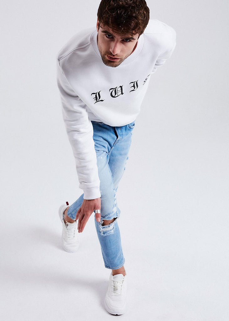 MEN WHITE LONDON SWEATER
