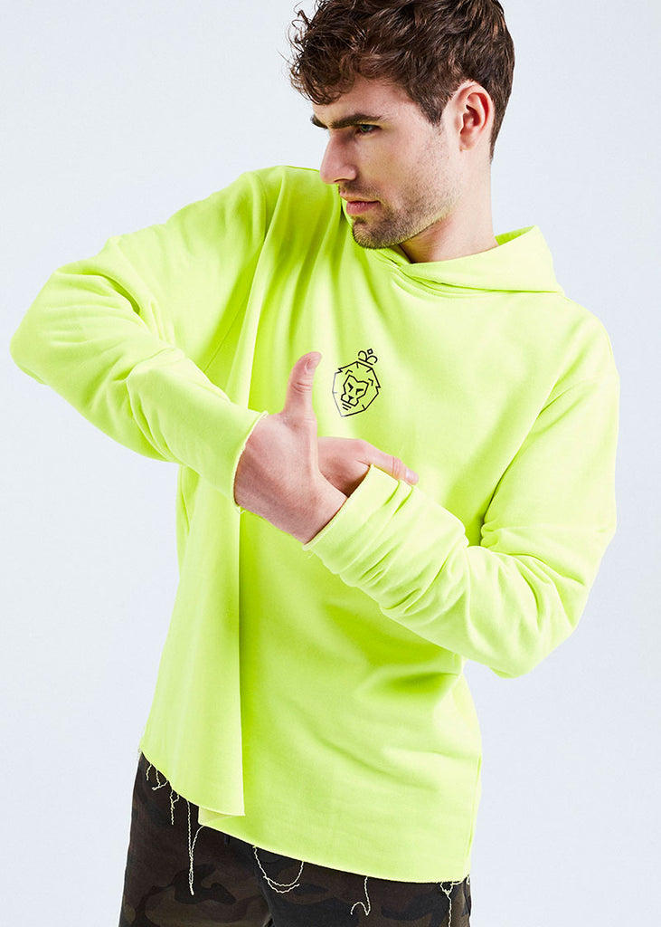 MEN NEON YELLOW WE ARE LUIS HOODIE