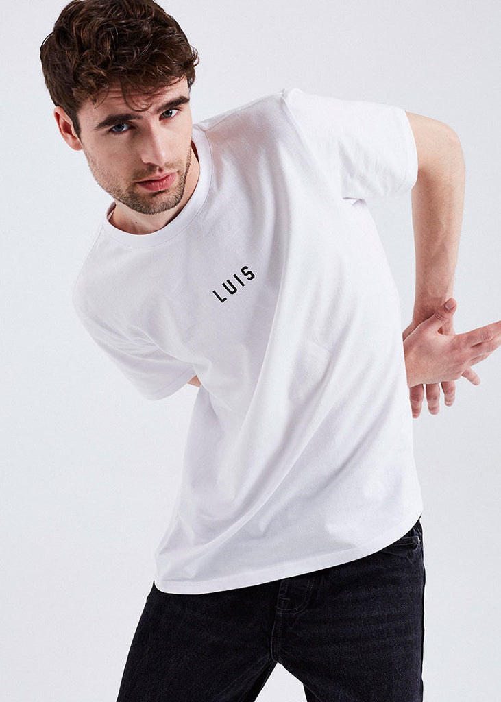 MEN WHITE BASIC LUIS TEE