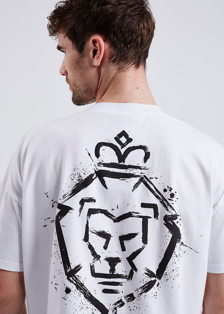 MEN WHITE LOGO TEE