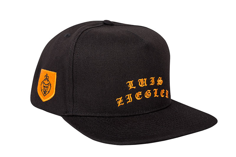 WOMAN BLACK AND ORANGE SNAPBACK