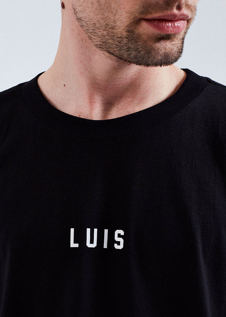 MEN BLACK LOGO TEE