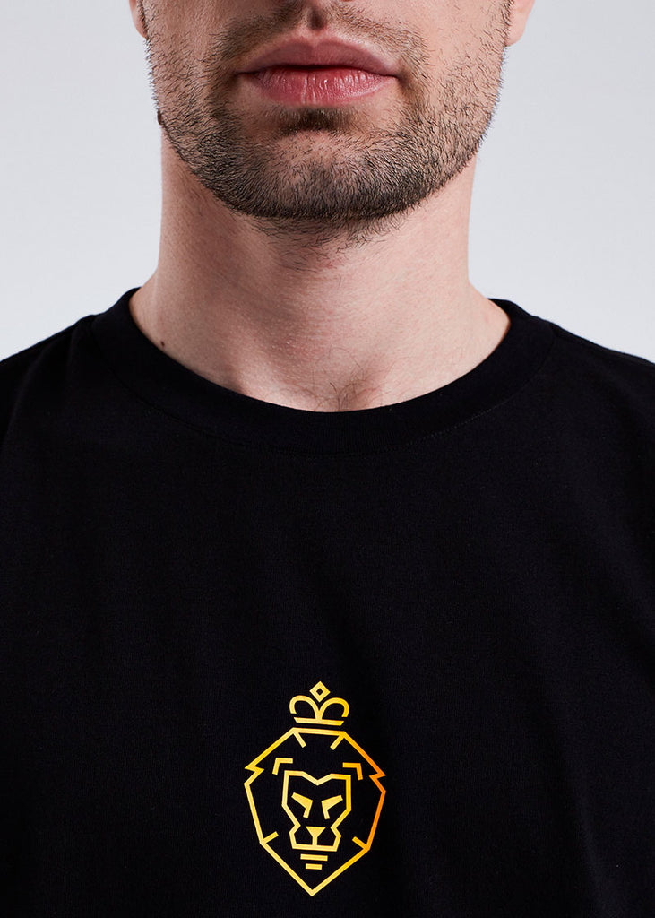 MEN BLACK BASIC LOGO TEE