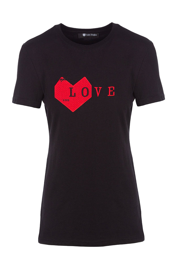 WOMAN BLACK LOVE TEE