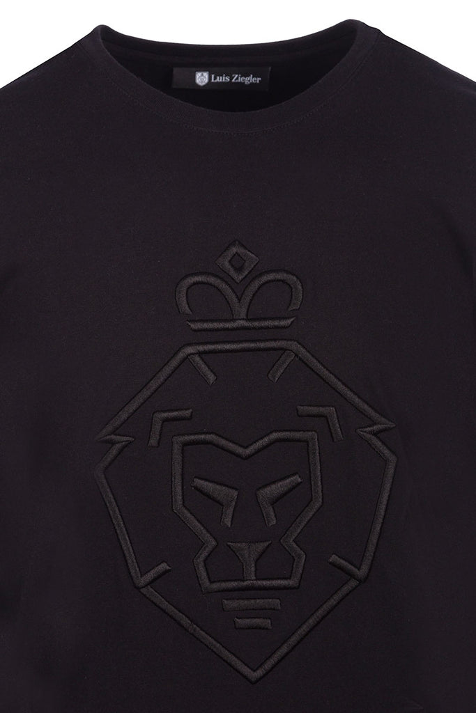 MEN LION BLACK TEE