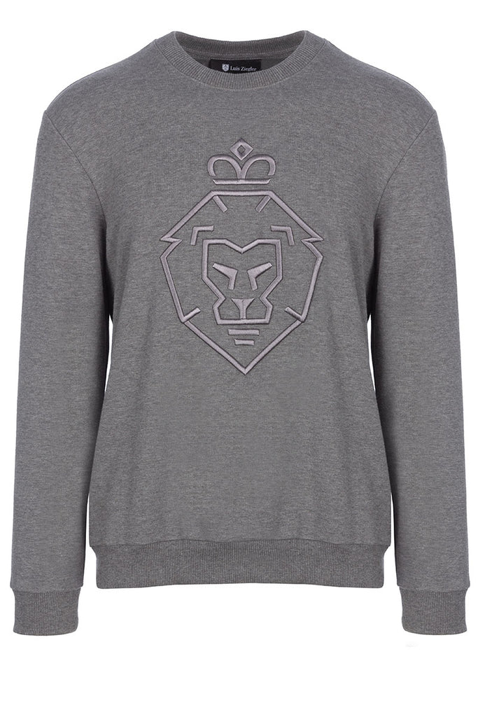WOMAN LION GREY SWEATSHIRT