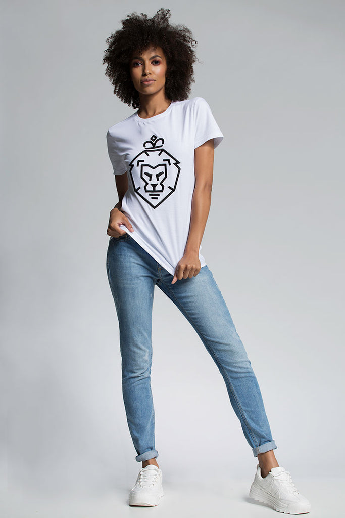 WOMAN LION WHITE TEE
