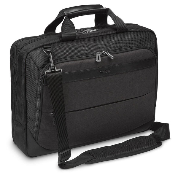 "CitySmart 14,15,15.6"" High Capacity Topload Laptop Case - Black/Grey"