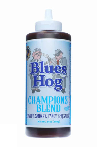 Blues Hog Champions Blend BBQ Sauce - NEW Squeezy Bottle 24oz