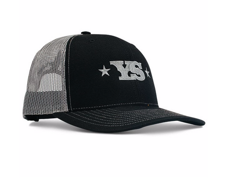Yoder Smokers Trucker Hat - Black/Charcoal