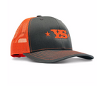 Yoder Smokers Trucker Hat - Charcoal/Orange
