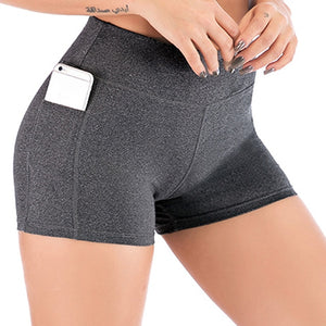 High Waist Athletic Yoga Shorts For Women
