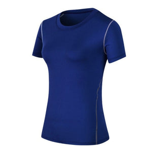 Women Shirts Elastic Yoga Sports Tops