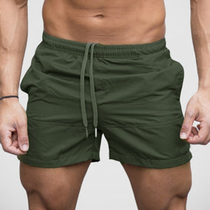 Men Fitness Gym Printing Sport Shorts