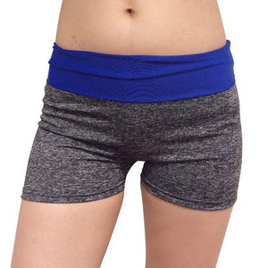Women Patchwork Sports Shorts