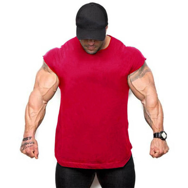 Gyms  Men Sleeveless shirts   Fitness tops tees