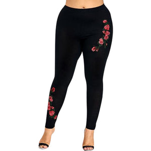 Solid Leggings High Elastic Waist Pencil Pants
