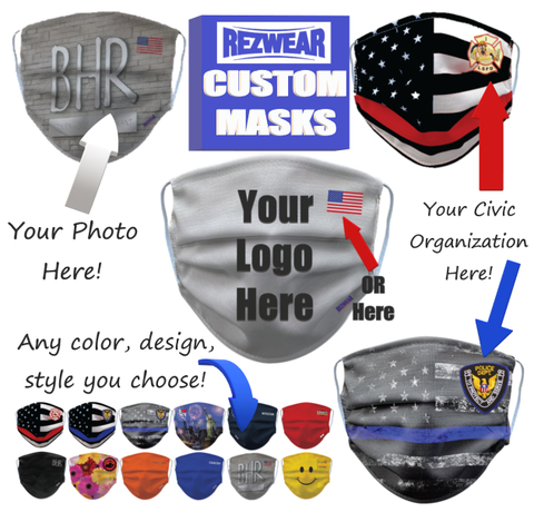 Custom Face Masks with your logo
