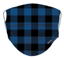 Blue Buffalo Plaid Reusable/ Washable Face Mask - RezwearUSA