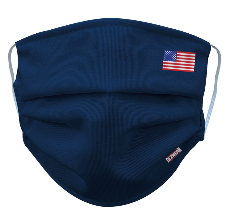Blue Reusable/ Washable Face Mask - RezwearUSA