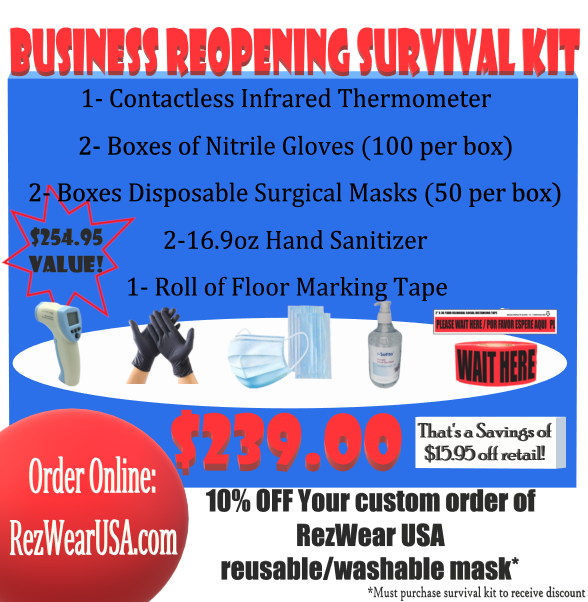 Business Reopening Survival Kit - RezwearUSA