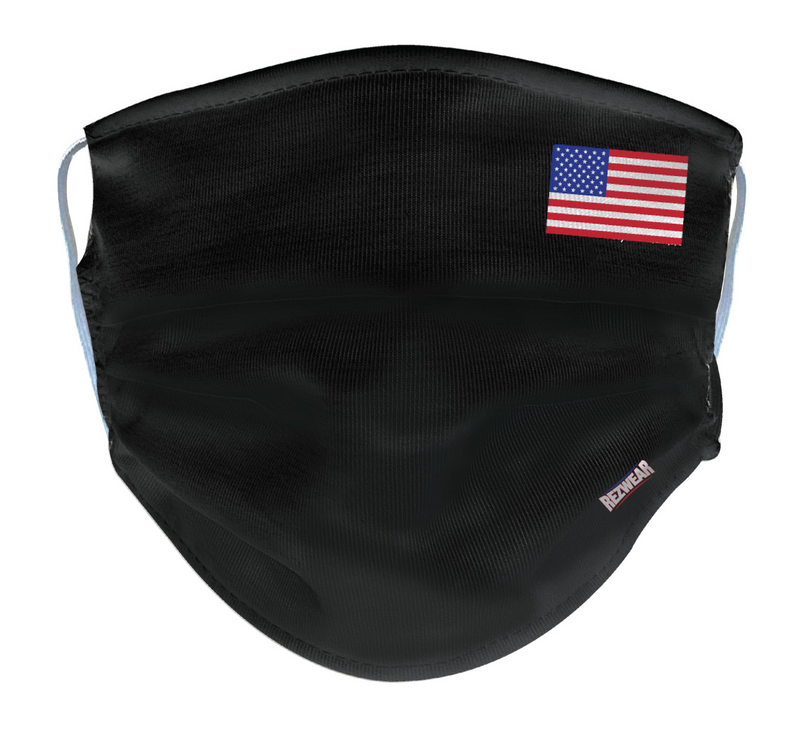 Black Reusable/ Washable Face Mask - RezwearUSA
