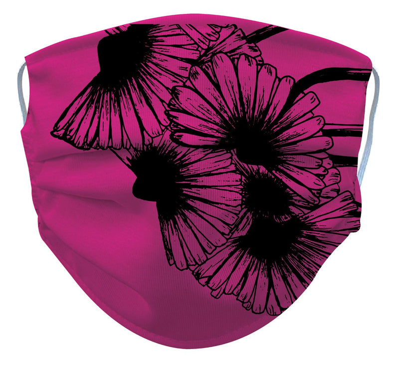 Pink Designer Reusable/ Washable Face Mask - RezwearUSA