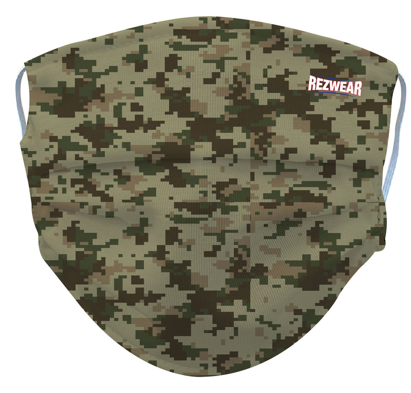 Camo Reusable/ Washable Face Mask - RezwearUSA