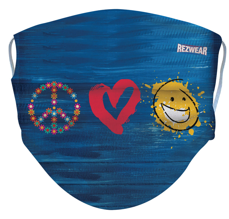 Peace, Love, & Happy Reusable/ Washable Face Mask - RezwearUSA