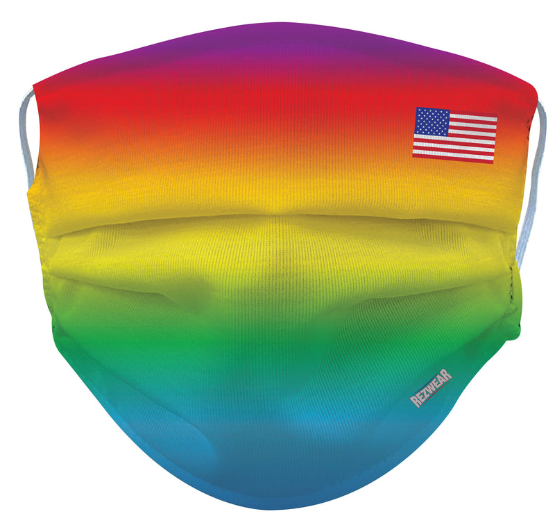 Rainbow Reusable/ Washable Face Mask - RezwearUSA