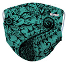 Teal Designer Reusable/ Washable Face Mask - RezwearUSA