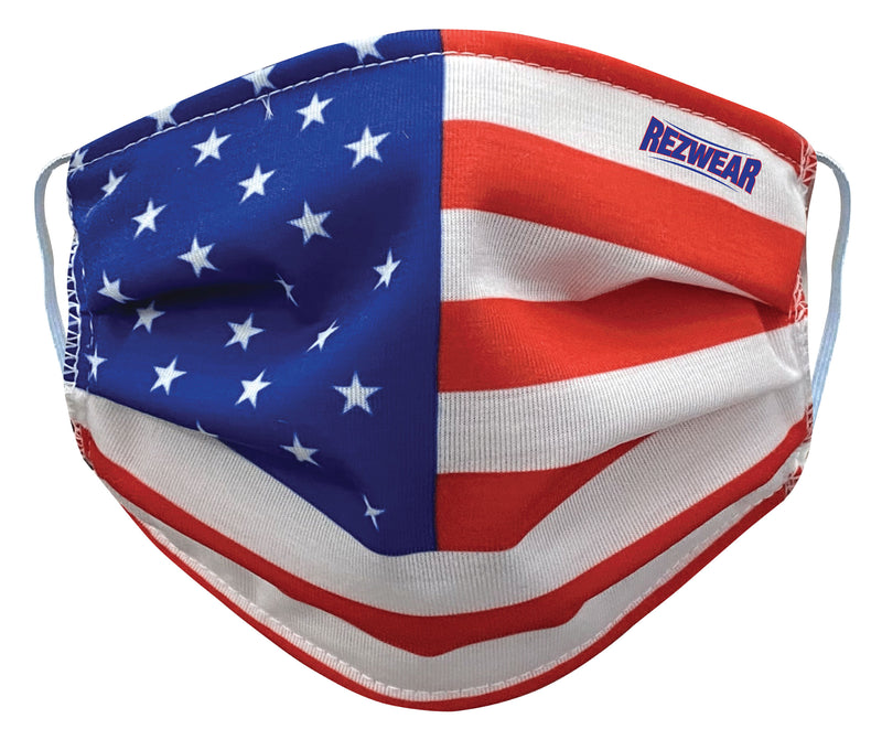 American Flag Reusable/ Washable Face Mask - RezwearUSA