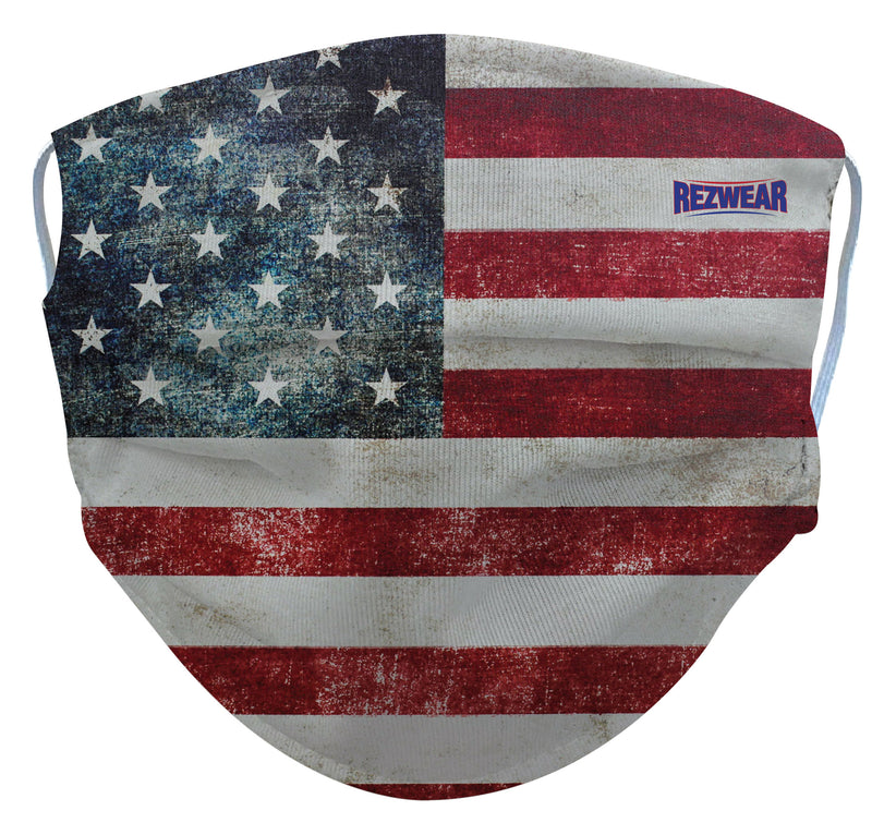 Faded Glory Flag Reusable/ Washable Face Mask - RezwearUSA