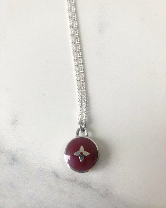 Louis Vuitton Purple Pendant