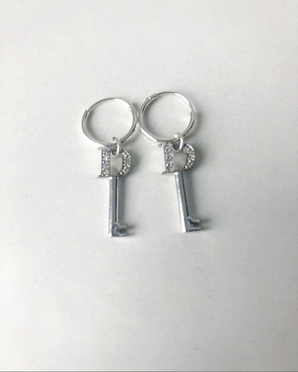 Dior Mini Key Earrings