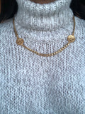 Asymmetric Double Chanel Necklace Medium
