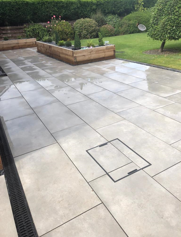 Light Grey Porcelain Paving | Tiles and Smiles
