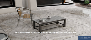 900x450 Grey outdoor porcelain paving slabs