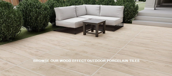 wood effect outdoor porcelain paving slabs