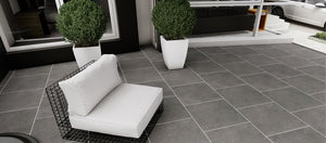 Anthracite outdoor porcelain paving 600x600