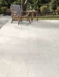 Beige Travertine Outdoor Porcelain Paving Slabs - 900x600 mm (4797200498766)
