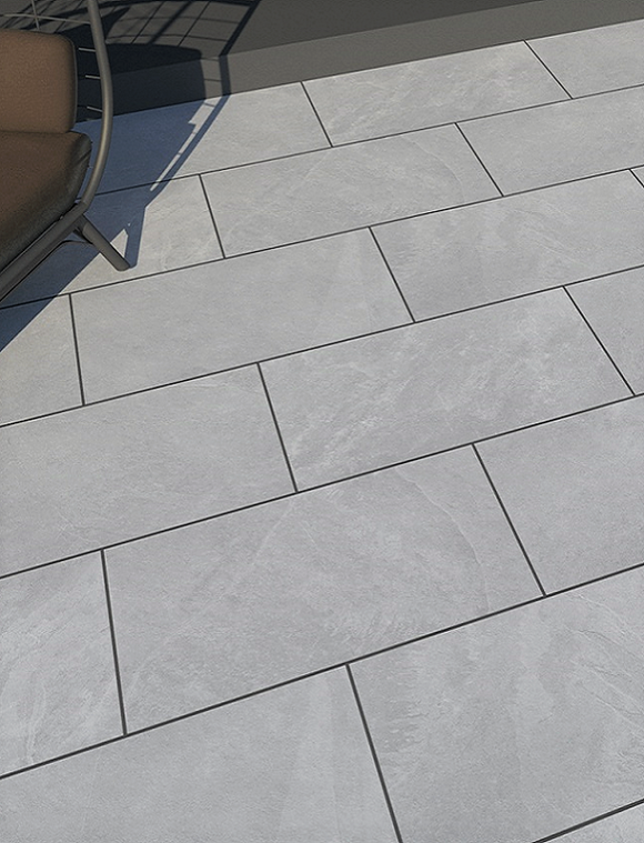 Cool Gris Outdoor Porcelain Paving Slabs - 1200X600 mm (4590424784974)