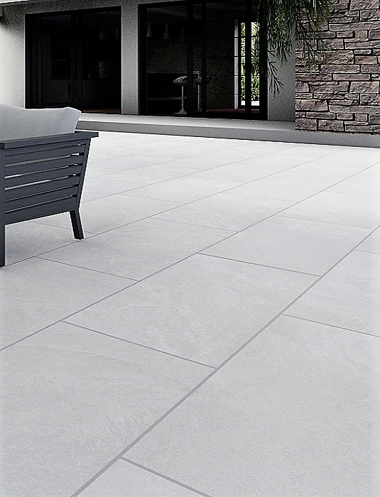 Cool White Outdoor Porcelain Paving Slabs - 1200X600 mm (4590345158734)