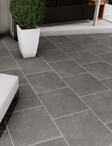 Galaxy Anthracite Outdoor Porcelain Paving Slabs - 600x600 mm (4677347835982)