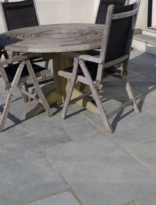 Kota  Blue Natural Limestone Paving Slabs - Mix Size (4334965850190)