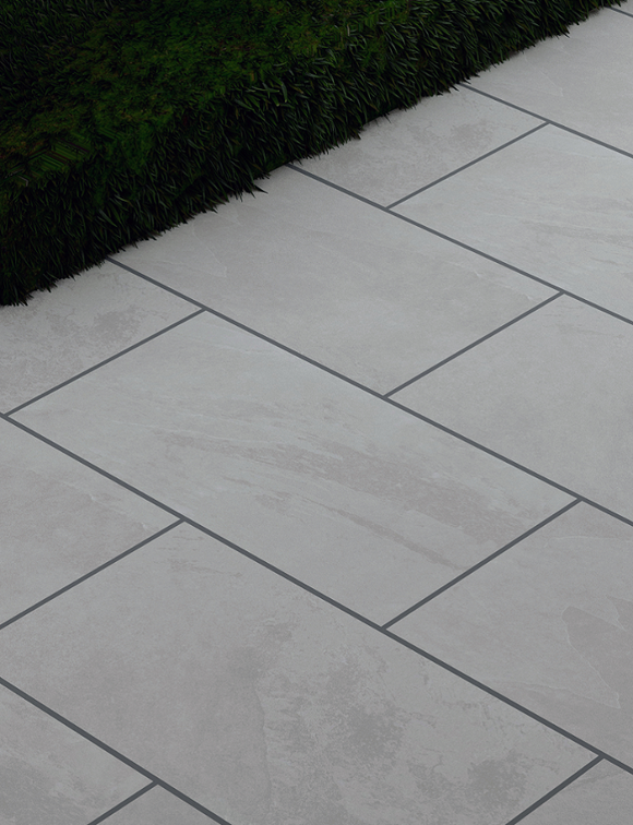 Nova Gris Outdoor Porcelain Paving Slabs - 900x450 mm
